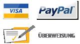 VISA PayPal Überweisung